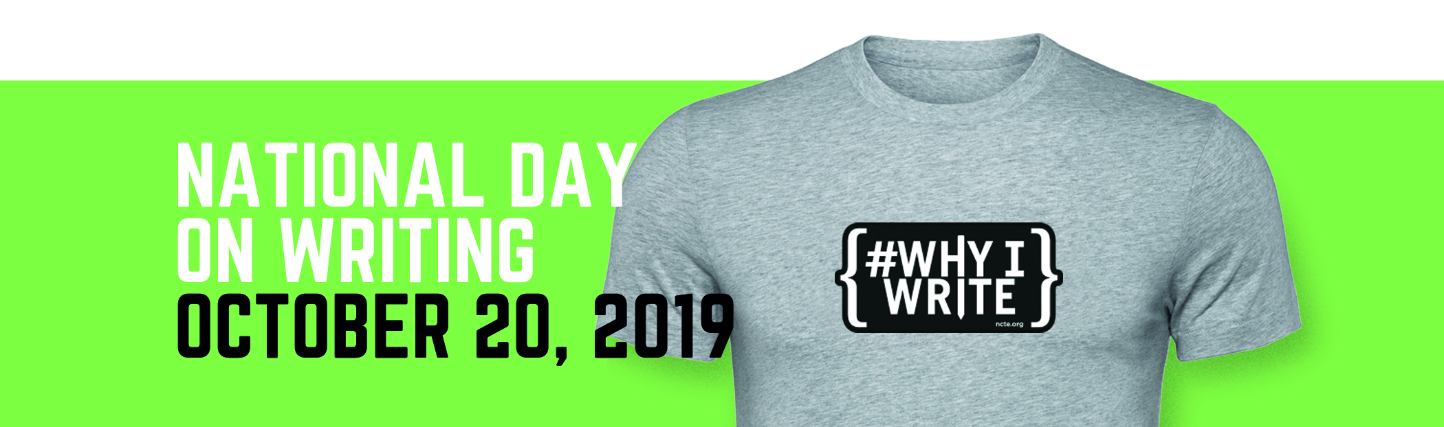 National Day on Writing T-shirt 2019